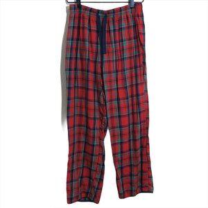 Victoria's Secret Red Plaid Flannel PJ Pants Lounge Straight Leg Pajamas XS
